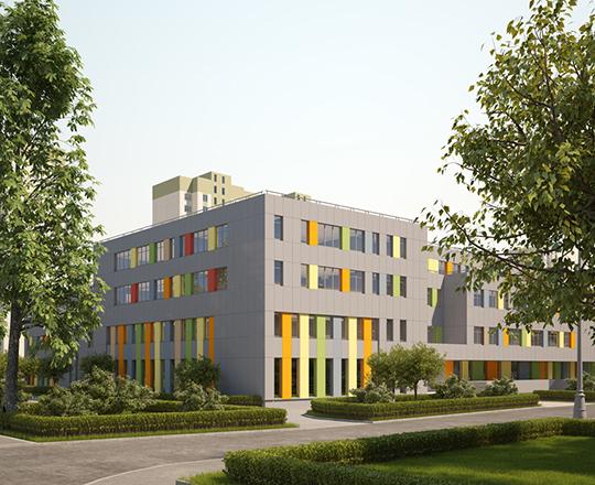 Школа на 550 мест в САО (Хорошевское шоссе, д. 21)